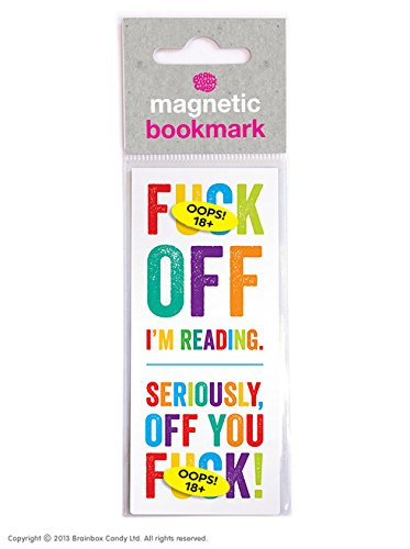 Funny Rude Humorous 'Fuck Off I'm Reading' Magnetic Bookmark