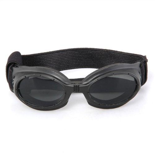 Goggles Sonnenbrille Hundebrille Sonnenschutz Brille für Hunde Haustier schwarz