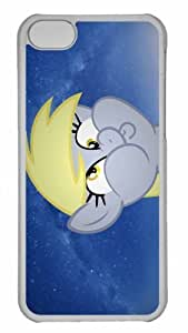 Customized iphone 5C PC Transparent Case - Derpy Way Personalized Cover