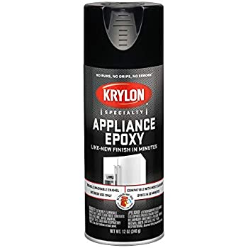 KRYLON K03206007 Appliance Epoxy Paint, Aerosol, 12 Oz., Black - 1028222