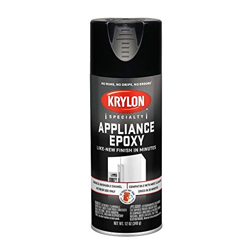 - KRYLON K03206007 Appliance Epoxy Paint, Aerosol, 12 Oz., Black - 1028222