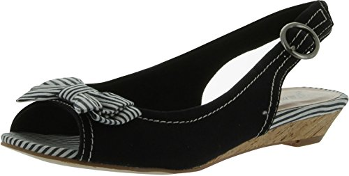 Gomax Women's Pageboy Slingback Flat,Black,5.5 M (Ornamented Slingback)