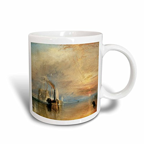 3dRose 126840_1 The The Fighting Temeraire tugged to her last Berth by J. M. W. Turner Mug, 11 oz, Ceramic (The Fighting Temeraire Tugged To Her Last Berth)