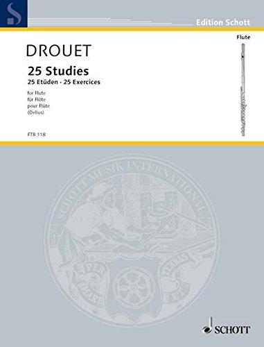 Études(25) Flûte Traversiere (Allemand) Brochure – 1 janvier 2000 Louis Drouet Schott B00006M2RS Musikalien