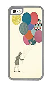 Apple Iphone 5C Case,WENJORS Awesome Party Girl Soft Case Protective Shell Cell Phone Cover For Apple Iphone 5C - TPU Transparent