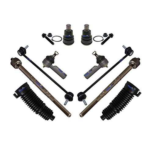 PartsW 10 Pc Suspension Kit for FORD ESCAPE MAZDA TRIBUTE MERCURY MARINER Tie Rod End Sway Bar Link Rack Pinion Bellow Boots