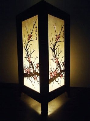 Thai Vintage Handmade ASIAN Oriental CHERRY BLOSSOM TREE Bedside Floor or Table Lamp Wood Lighting by Thai Lanna Lump