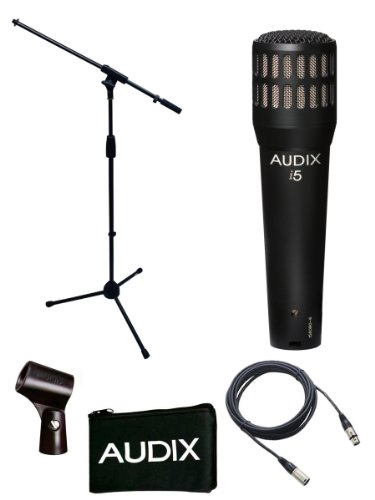Audix I5 Microphone Bundle with Mic Boom Stand and XLR Cable by Audix