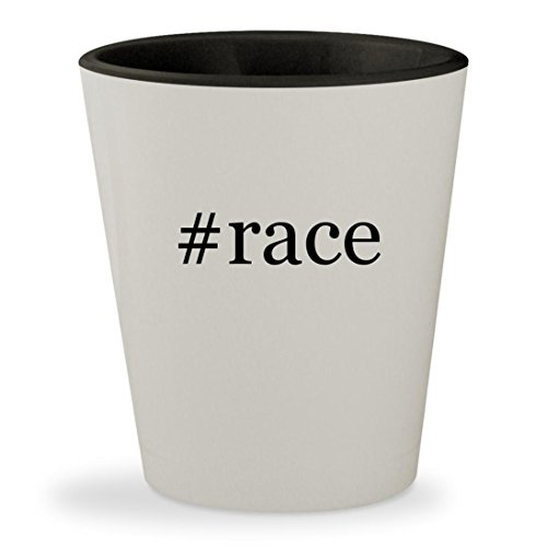 Price comparison product image #race - Hashtag White Outer & Black Inner Ceramic 1.5oz Shot Glass