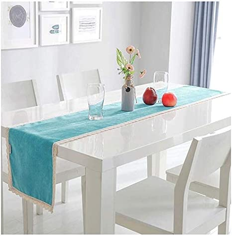 FTI-Colchonetas 30 * 180 cm Azul Mesa Corredor Mesa de té Mesa de Comedor Mantel Banquete de Boda decoración de la Mesa Corredor: Amazon.es: Hogar