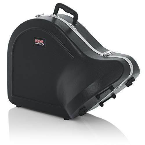 Gator Cases Lightweight Molded French Horn Case with Locking Latch and Plush Lined Interior (GC-FRENCHHORN) from Gator