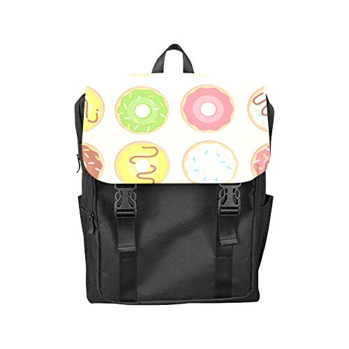 Fashion Flip Cover Notebook Donuts Sweets Delicious Girl Heart-high Value Delicious Cake Print Laptop Backpack Travel Men Women Business Computer Backpack Oxford Fabric Vintage School Shoulder ()