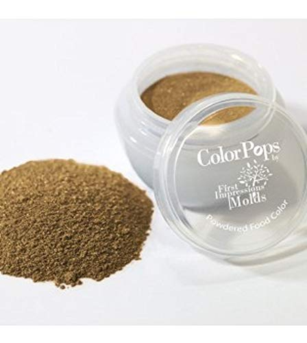 (ColorPops by First Impressions Molds Pearl Brown 20 Edible Powder Food Color For Cake Decorating, Baking, and Gumpaste Flowers 10 gr/vol single jar)
