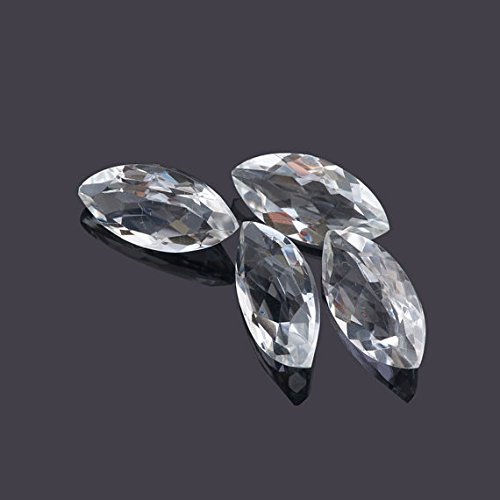 Natural White Topaz 8x4mm Faceted Cut Marquise 5 Pieces Top Quality Loose Gemstone