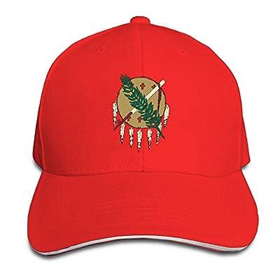 WellShopping Oklahoma Flag Element Design Custom Sandwich Peaked Cap Unisex Baseball Hat