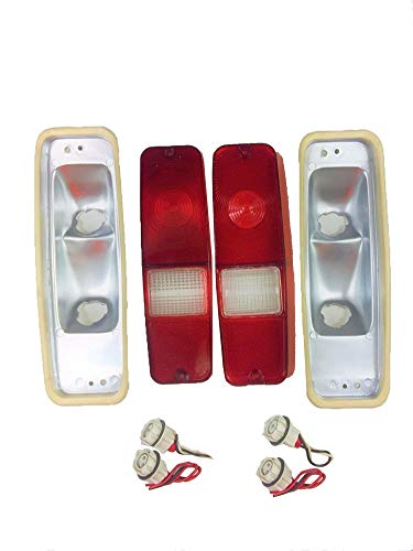 Lens Set Tail - A-Team Performance 70-78 INTERNATIONAL SCOUT II TAIL LIGHT LENS SET BRAKE LENS Compatible with 69-75 D-SERIES TRUCK