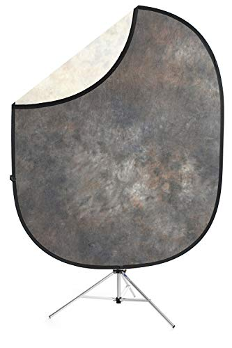 Savage Lakeside Collapsible Backdrop, 5' W x 6' H w/ 8' Aluminum Stand