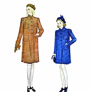 McCall 9877 Girls Coat Vintage Sewing Pattern Size 6