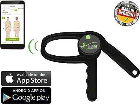 eaglefit Bluetooth Caliper, medidor digital de masa corporal, con aplicación para el móvil,