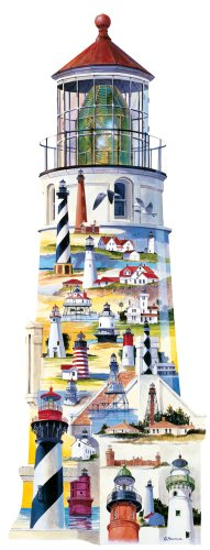 Great American Puzzle Factory Lighthouses USA 600 Piece Puzzle