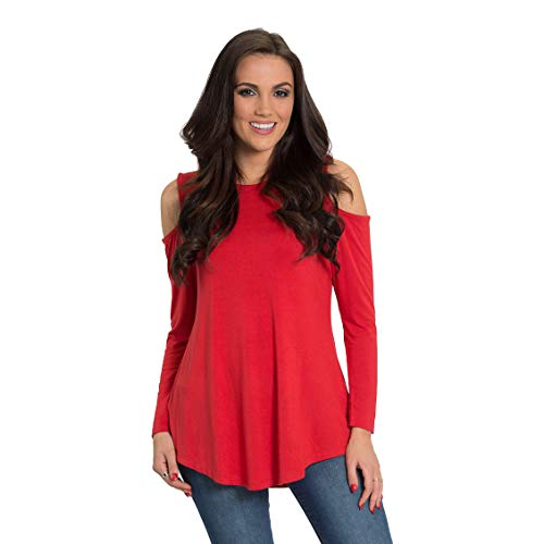 Flying Colors Women's Long Sleeve Cold Shoulder Top