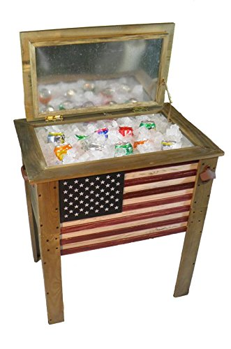 Backyard Expressions 909939 Cooler, Decorative with flag