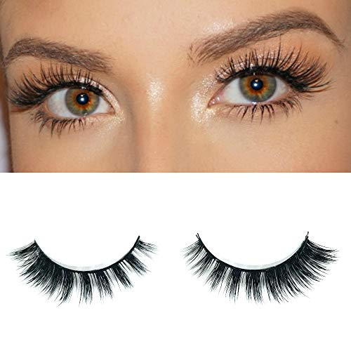 Milanté Beauty Hypnotic Mink False Lashes Cruelty Free Black Blue Natural Thick Long Full Reusable Fake Strip Eyelashes