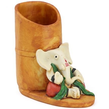 Karigaari India Polyresine Ganesha Pen Holder