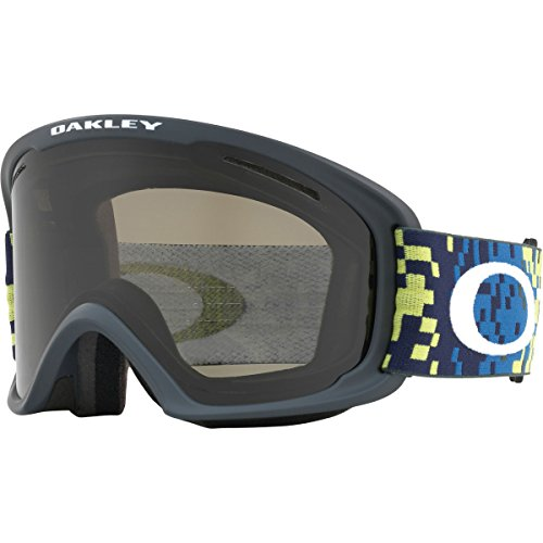 Oakley O-Frame 2.0 XL Snow Goggles, Pixel Fade Iron Laser Frame, Dark Grey Lens, - Oakley Frames O
