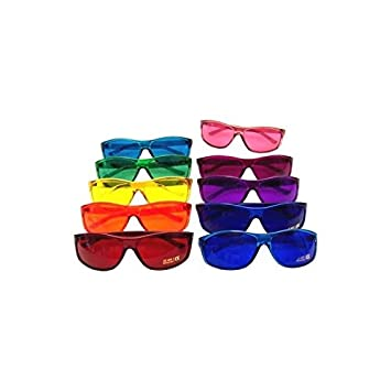 e86ea24537 Amazon.com  Color Therapy Glasses Pro Style Set of 10 Colors  Also ...