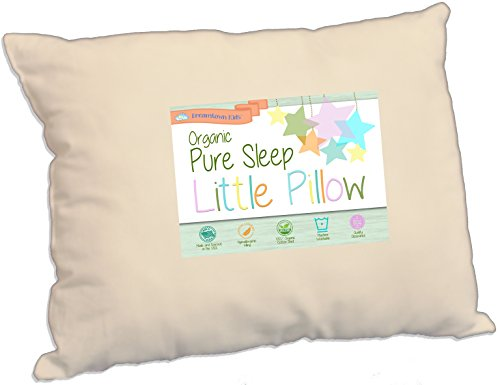 [Toddler Pillow Soft Organic Cotton 200 Thread Count, Delicate Fill for Safe Neck Support in Kids Age 2-5, Great for Travel, Nap, Day Care, Baby Crib or Toddler Bed, 13x19 Made in USA by Dreamtown] (Infant Red Minnie My First Disney Costumes)
