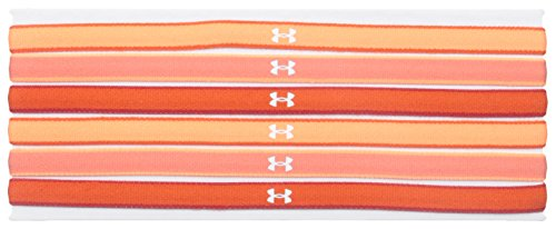 Under Armour Women's Mini Headbands, Dark Orange /White, One Size