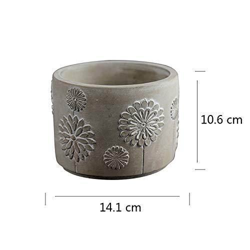 Nicole Cement Flowerpot Silicone Mold Pen Barrel Desktop Decoration Tool by nicole (Image #1)