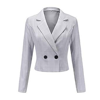 Amazon.com: Fmeijia Women's Plaid Joker Coat Short Suit