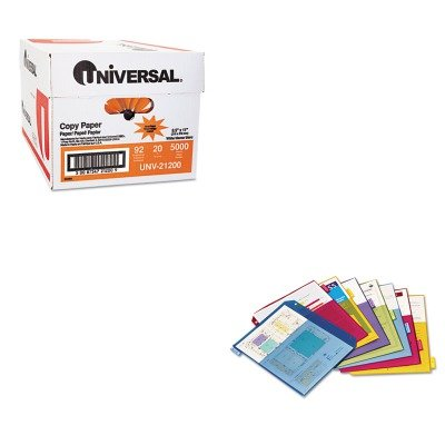 KITCRD84004UNV21200 - Value Kit - Cardinal Poly 2-Pocket Index Dividers (CRD84004) and Universal Copy Paper (2 Poly Value Kit)