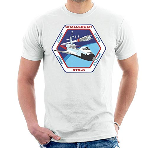 NASA STS 6 Space Shuttle Challenger Mission Patch Men's T-Shirt