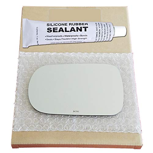 - Mirror Glass + Silicone Adhesive for 1991-1996 Infiniti G20 Driver Side Replacement