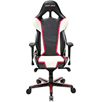 DXRacer OH/RH110/NWR Black/White/Red Racing Series Gaming Chair