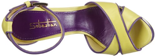 Sebastian Women's Professional T Incr orlato 130 Sandals Yellow Tondo Sandalo rFqrxgwf