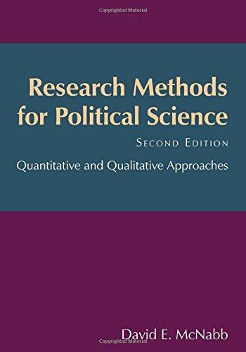 Research Methods for Political Science: Quantitative and Qualitative Methods