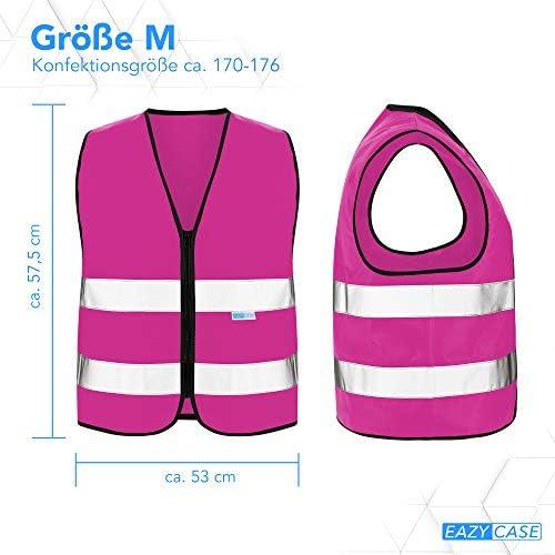 Eazy Case Reflektorweste Für Kinder Sicherheitsweste Reißverschluss Warnweste Mit Reflektoren Atmungsaktiv Reflektierend Zur Erhöhung Der Sichtbarkeit Im Straßenverkehr M Pink Auto