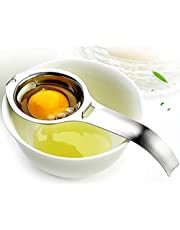 PIKAqiu33 Stainless Steel Egg Yolk White Separator Cooking Tool Kitchen Gadget Silver, Kitchen,Dining & Bar, for Xmas Day and New Year (Silver)