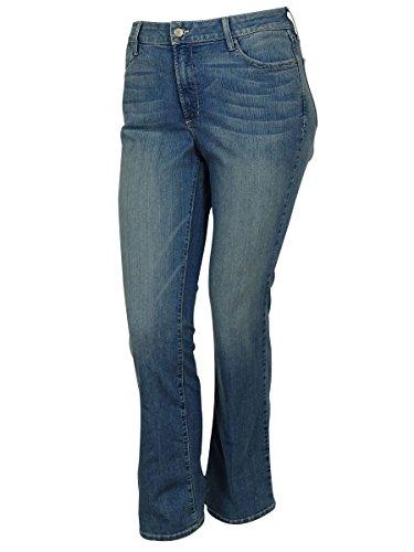 NYDJ Womens Plus South Beach Wash Slimming Fit Bootcut Jeans Blue 14W by NYDJ