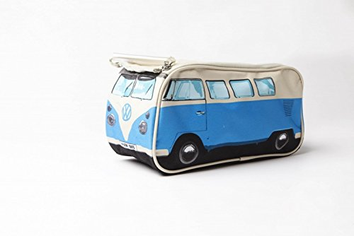 Vw Volkswagen T1 Camper Van Toiletry Wash Bag Red