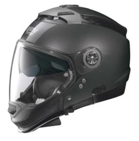 Nolan N44 Trilogy Solid Helmet (Black Graphite, Large)