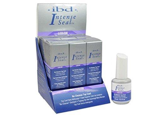 - Ibd LED/UV No Cleanse Top Coat Eliminates Buffing Mirror Glass Finish.- Size 0.5 Fl.oz / 14ml (Pack of 6)
