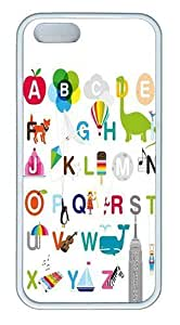 26 Letters Of The Alphabet Custom Case Cover Compatible with Apple iPhone 5c - TPU - White
