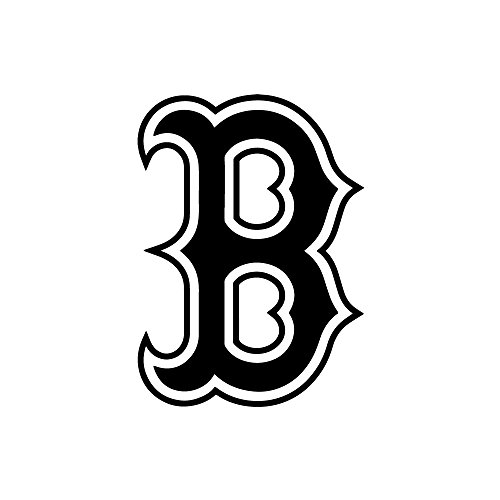 Boston B Decal (Design #2) Vinyl Die-Cut Decal Sticker for Car, Truck, Notebook, Laptop, Computer or Window (5
