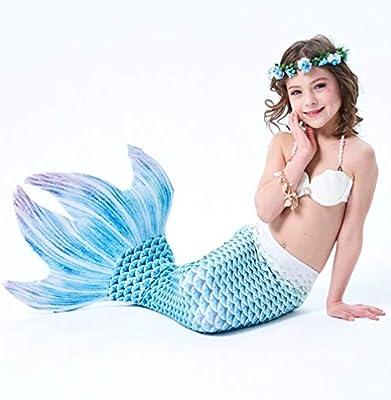 MARYYUN Cola De Sirena Niña para,Traje De Baño Mermaid ...