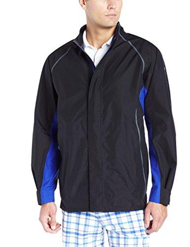 adidas Golf Men's Climaproof Gore-Tex 3-Layer Rain Jacket, Black/Gore Blue/Ash, Medium